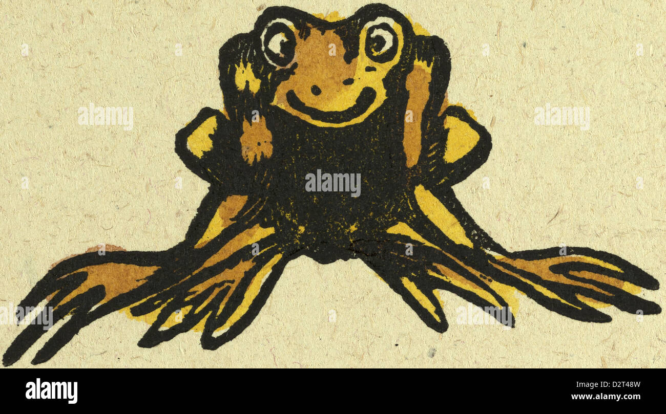 illustration of English tales folk tales and ballads. frog - Stock Image