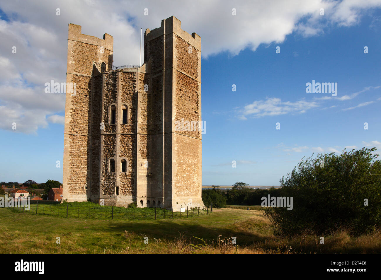 The remarkably intact Keep at Orford Castle, Orford, Suffolk, England, United Kingdom, Europe - Stock Image