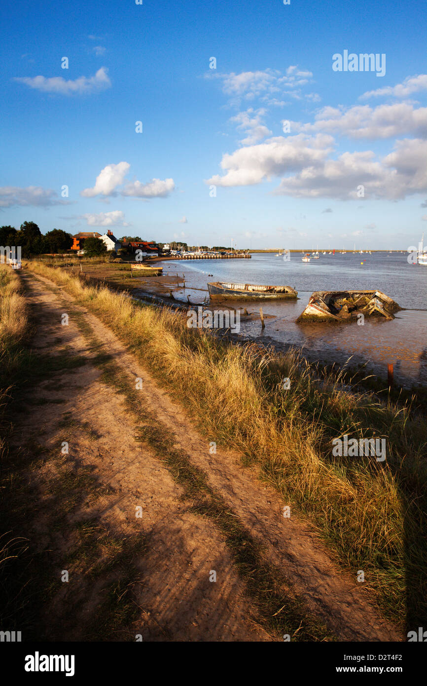 Track by the River at Orford Quay, Orford, Suffolk, England, United Kingdom, Europe - Stock Image