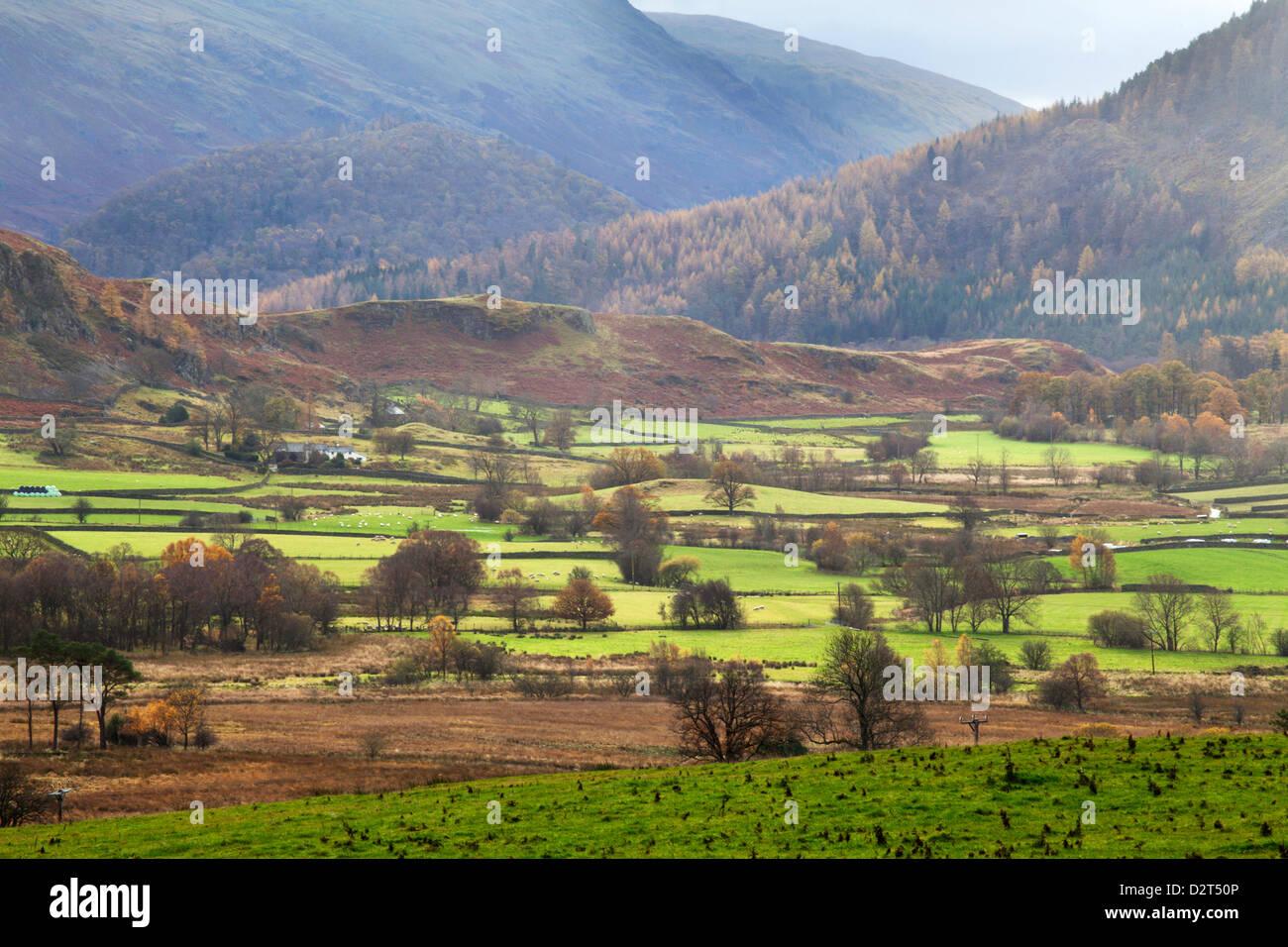 Dale Bottom from Castlerigg Stone Circle, Keswick, Lake District National Park, Cumbria, England, United Kingdom, - Stock Image