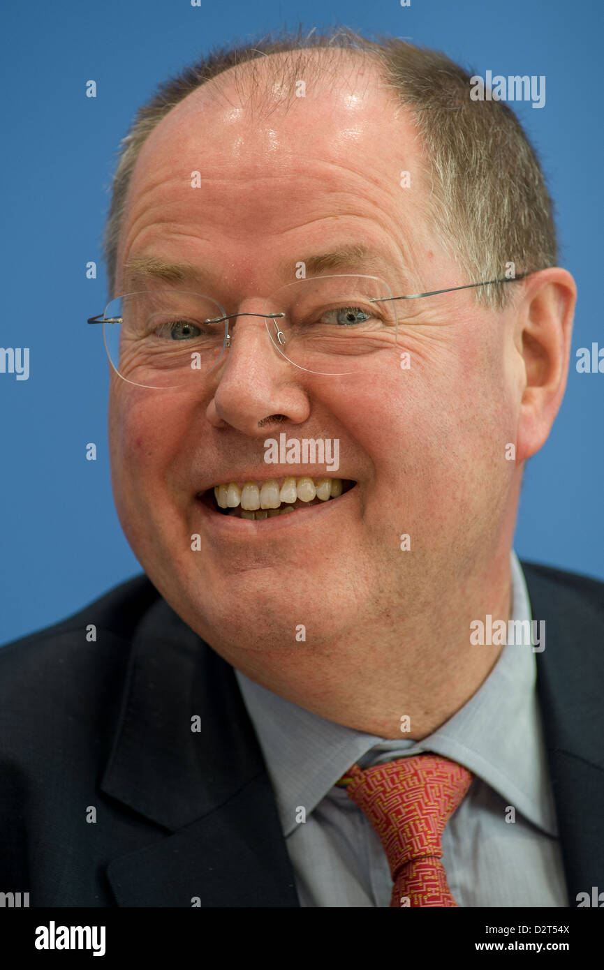 Berlin, Germany, Peer Steinbrueck, SPD, in Portrait - Stock Image