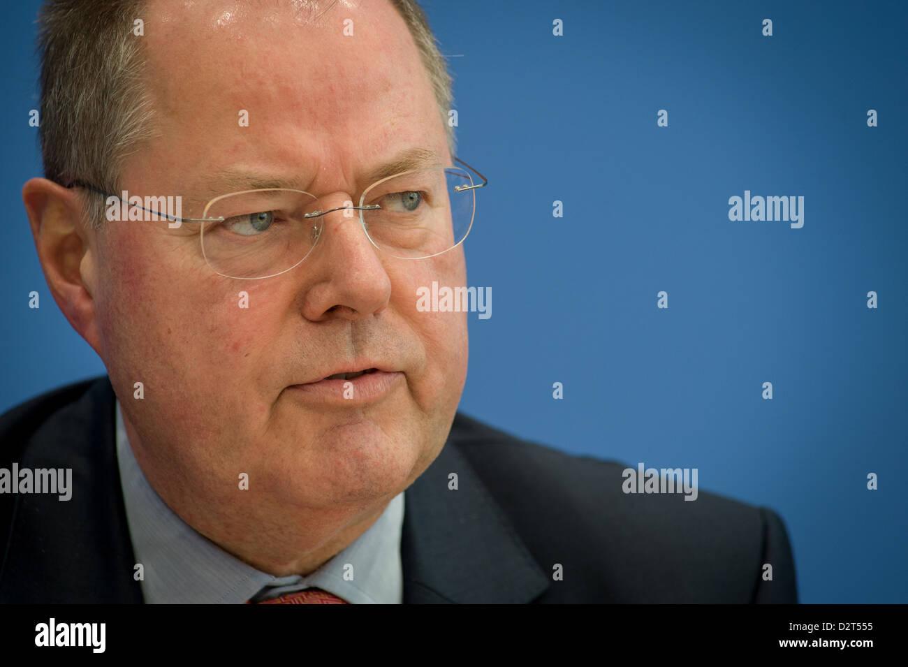 Berlin, Germany, Peer Steinbrueck, SPD, in Portrait - Stock Image