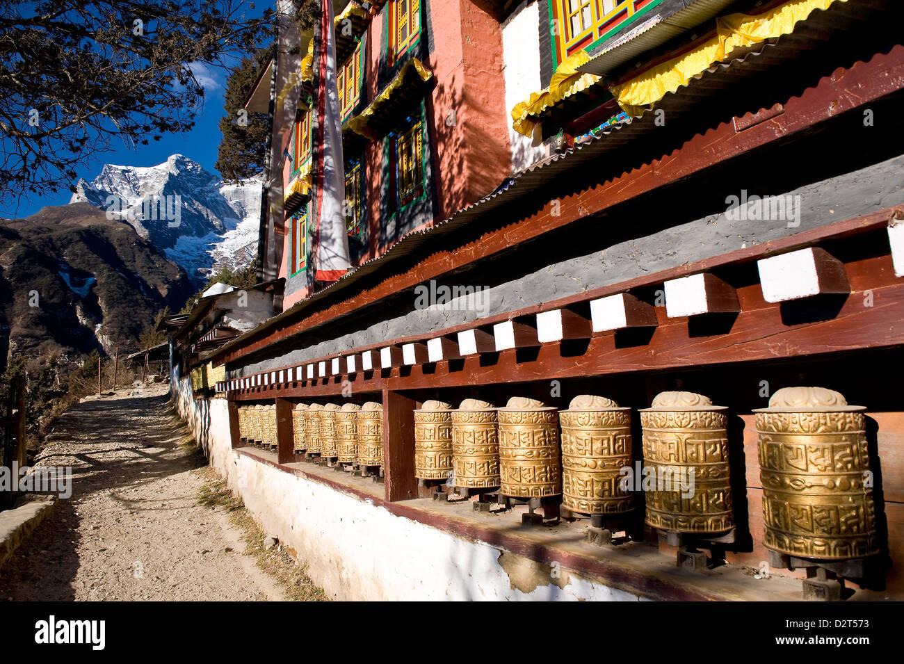 Namche Gompa (Monastery), Namche Bazaar, Solu Khumbu Region, Nepal, Himalayas, Asia - Stock Image