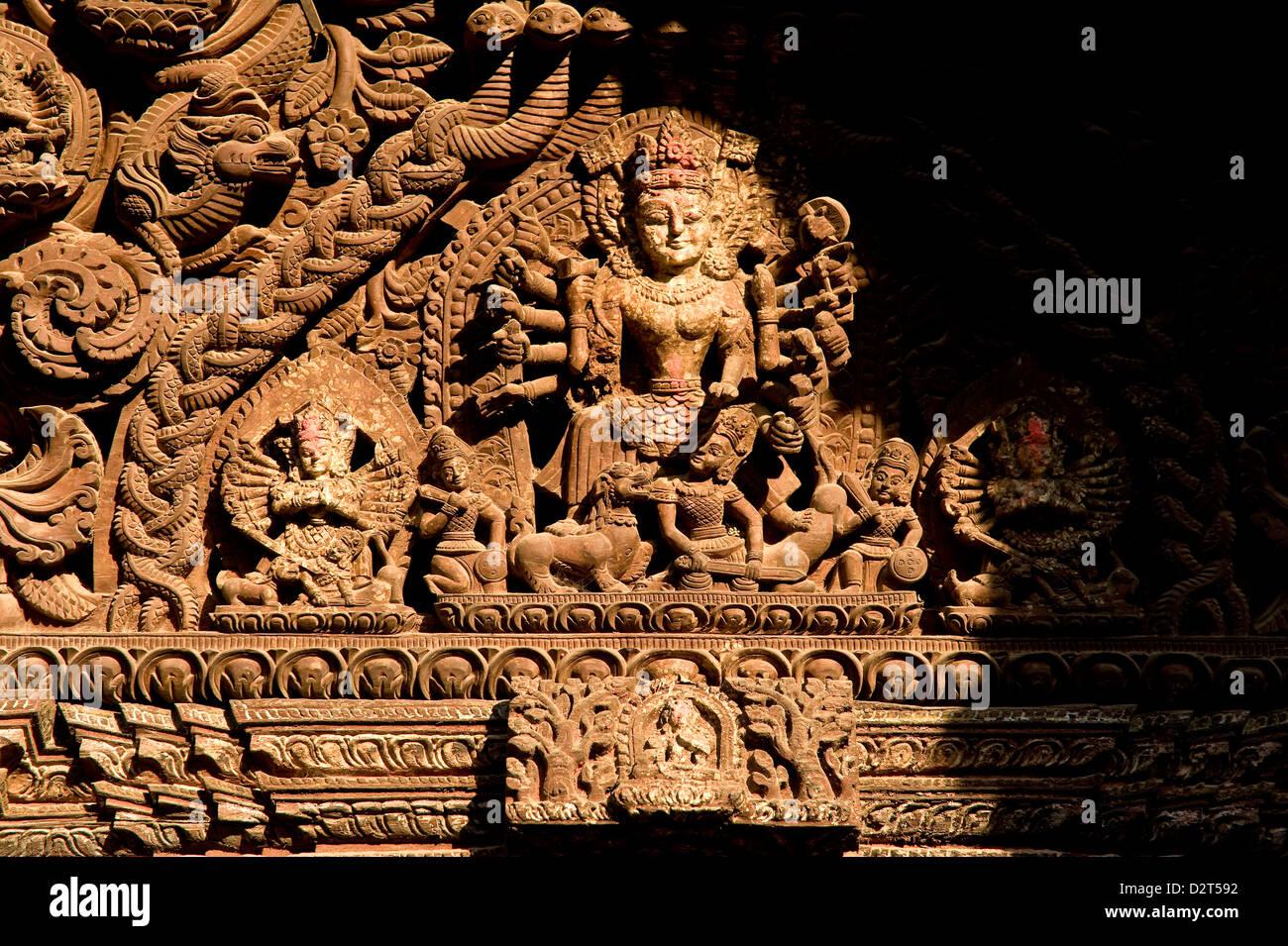 Nyatapola, Bhaktapur, UNESCO World Heritage Site, Kathmandu Valley, Nepal, Asia - Stock Image