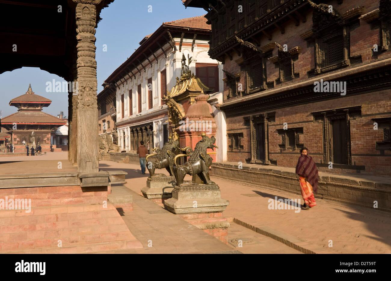 Durbar Square, Bhaktapur, UNESCO World Heritage Site, Kathmandu Valley, Nepal, Asia - Stock Image