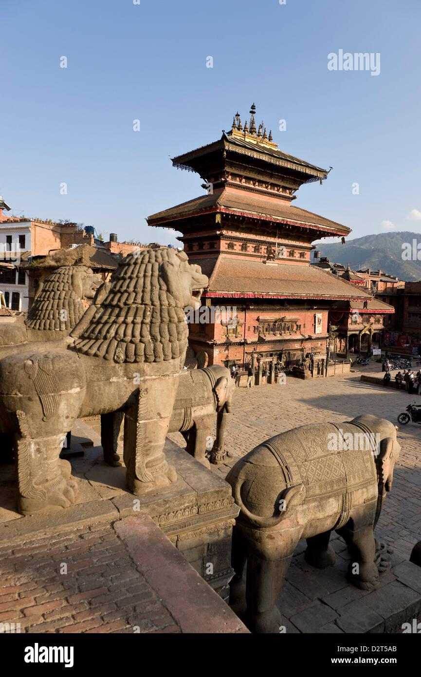 Bhairabnath Mandir, Bhaktapur, UNESCO World Heritage Site, Kathmandu Valley, Nepal, Asia - Stock Image