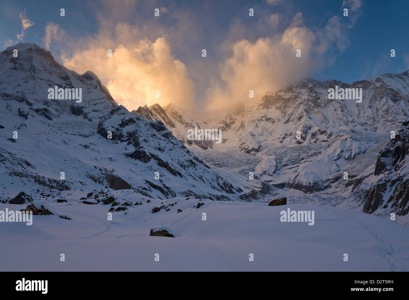 Annapurna Base Camp, Annapurna Himal, Nepal, Himalayas, Asia - Stock Image