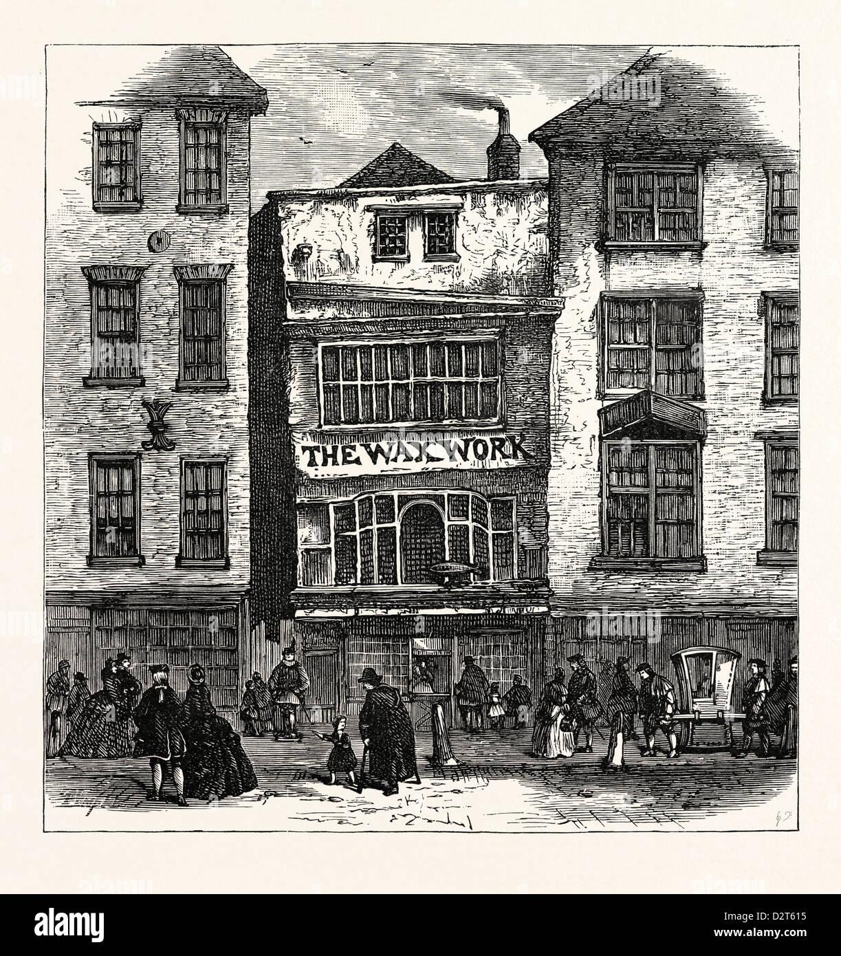 MRS. SALMON'S WAXWORK FLEET STREET: PALACE OF HENRY VIII. AND CARDINAL WOLSEY LONDON - Stock Image