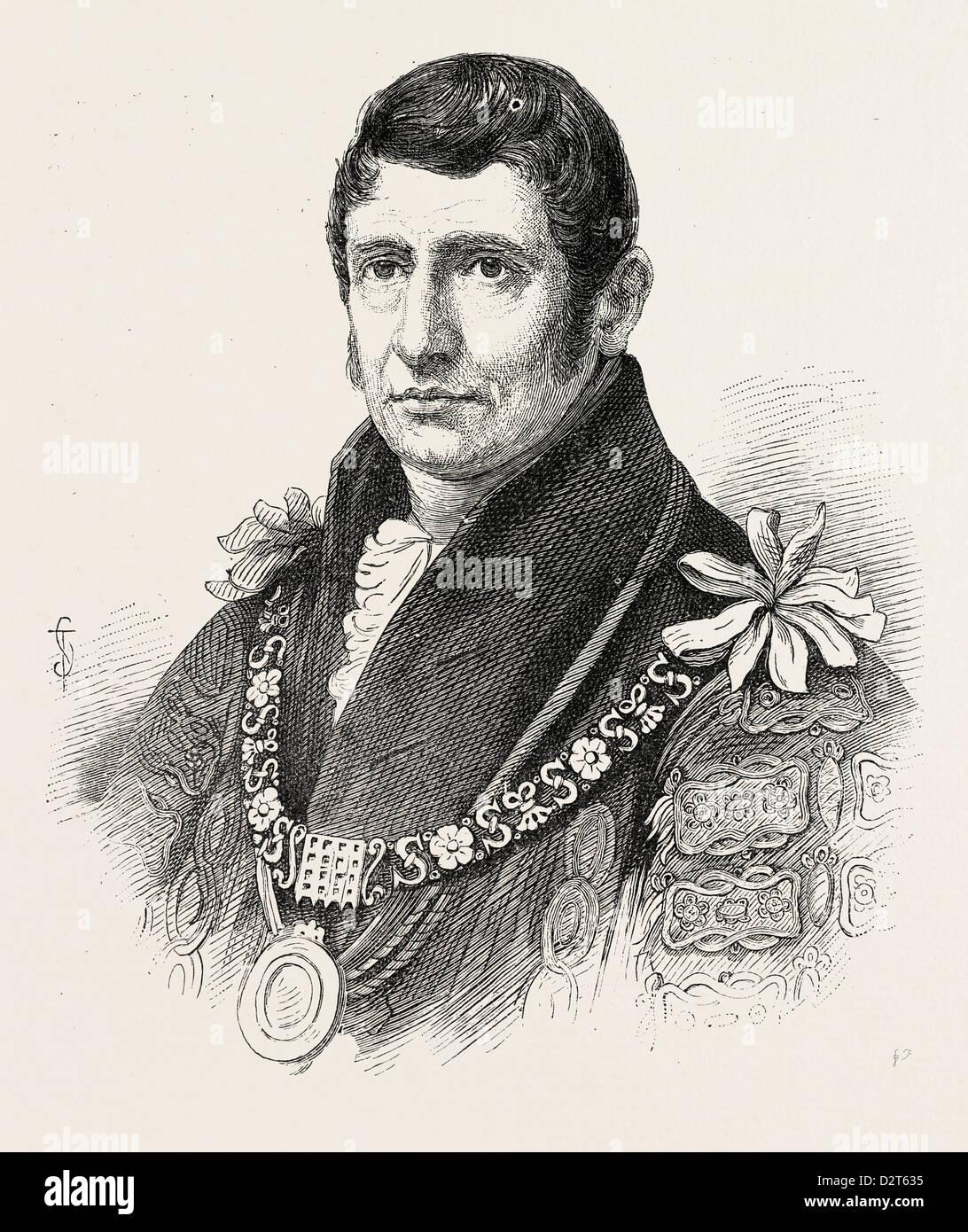ALDERMAN WAITHMAN FROM AN AUTHENTIC PORTRAIT - Stock Image