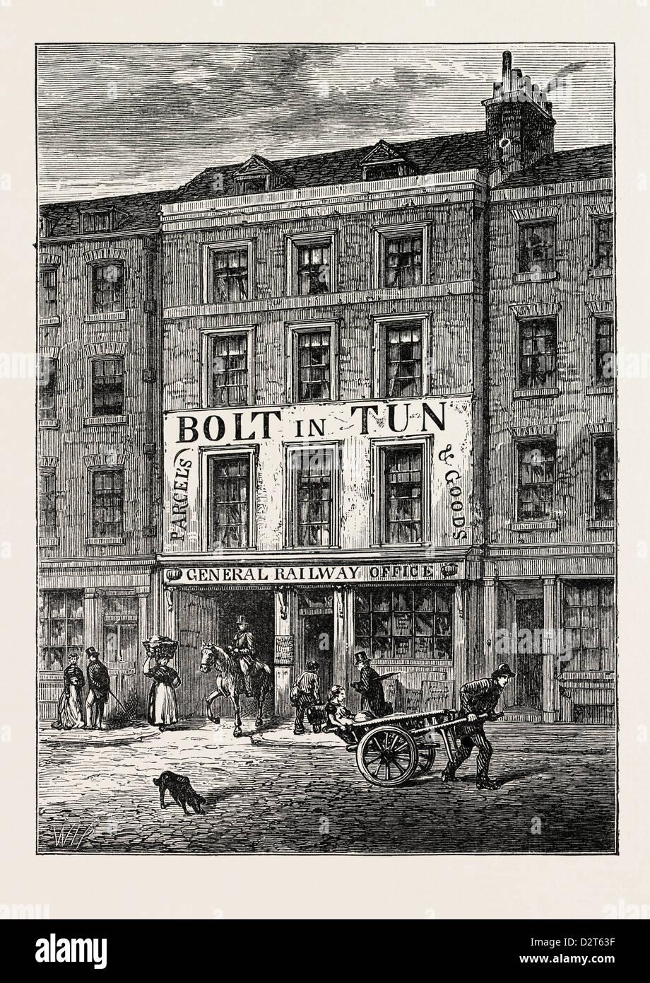 THE BOLT-IN-TUN 1859 LONDON - Stock Image