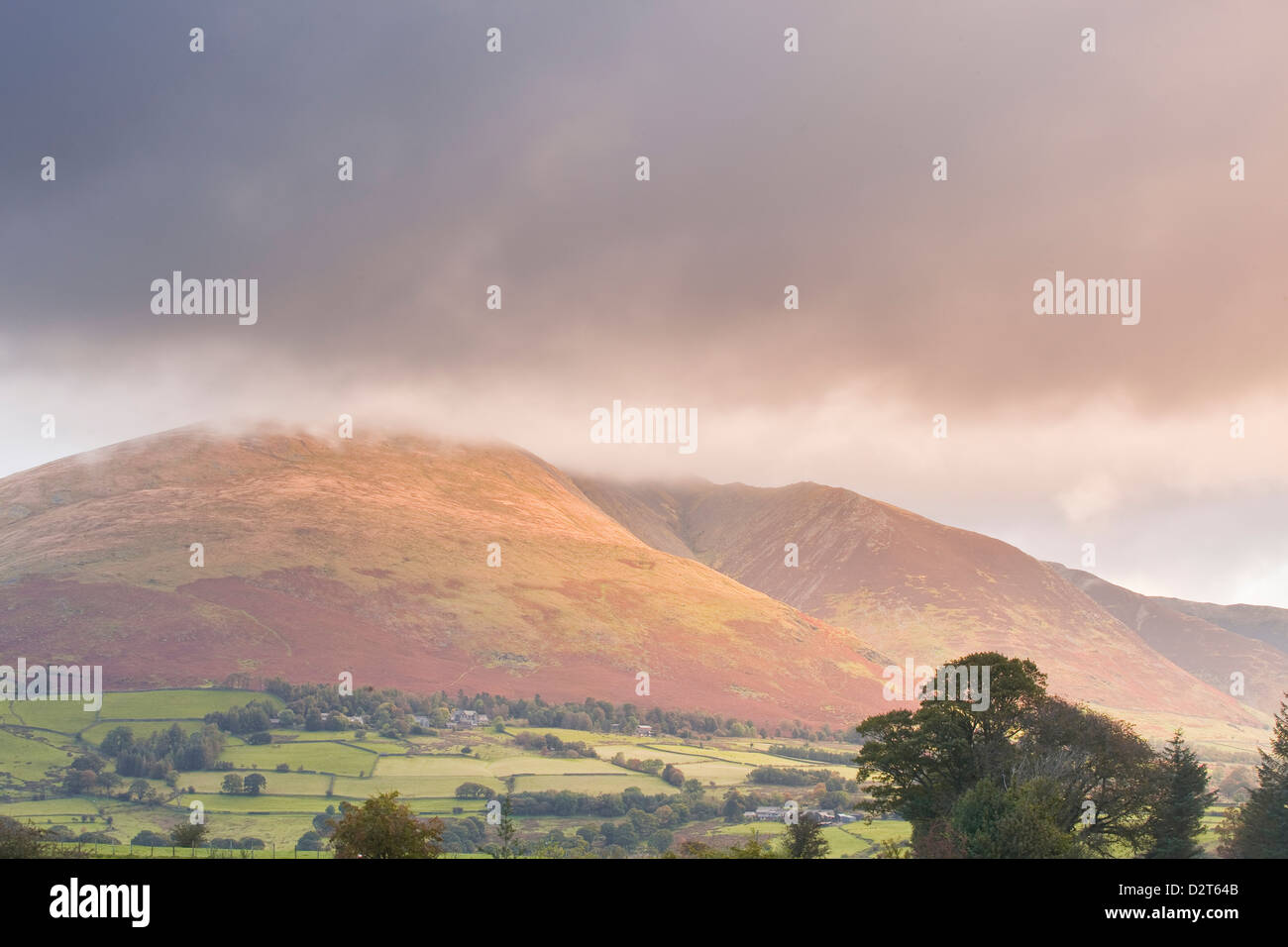 The fell of Blencartha in the Lake District National Park, Cumbria, England, United Kingdom, Europe - Stock Image
