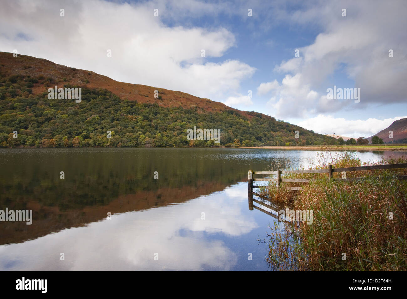 Reflections in the waters of Brothers Water in the Lake District National Park, Cumbria, England, United Kingdom, - Stock Image