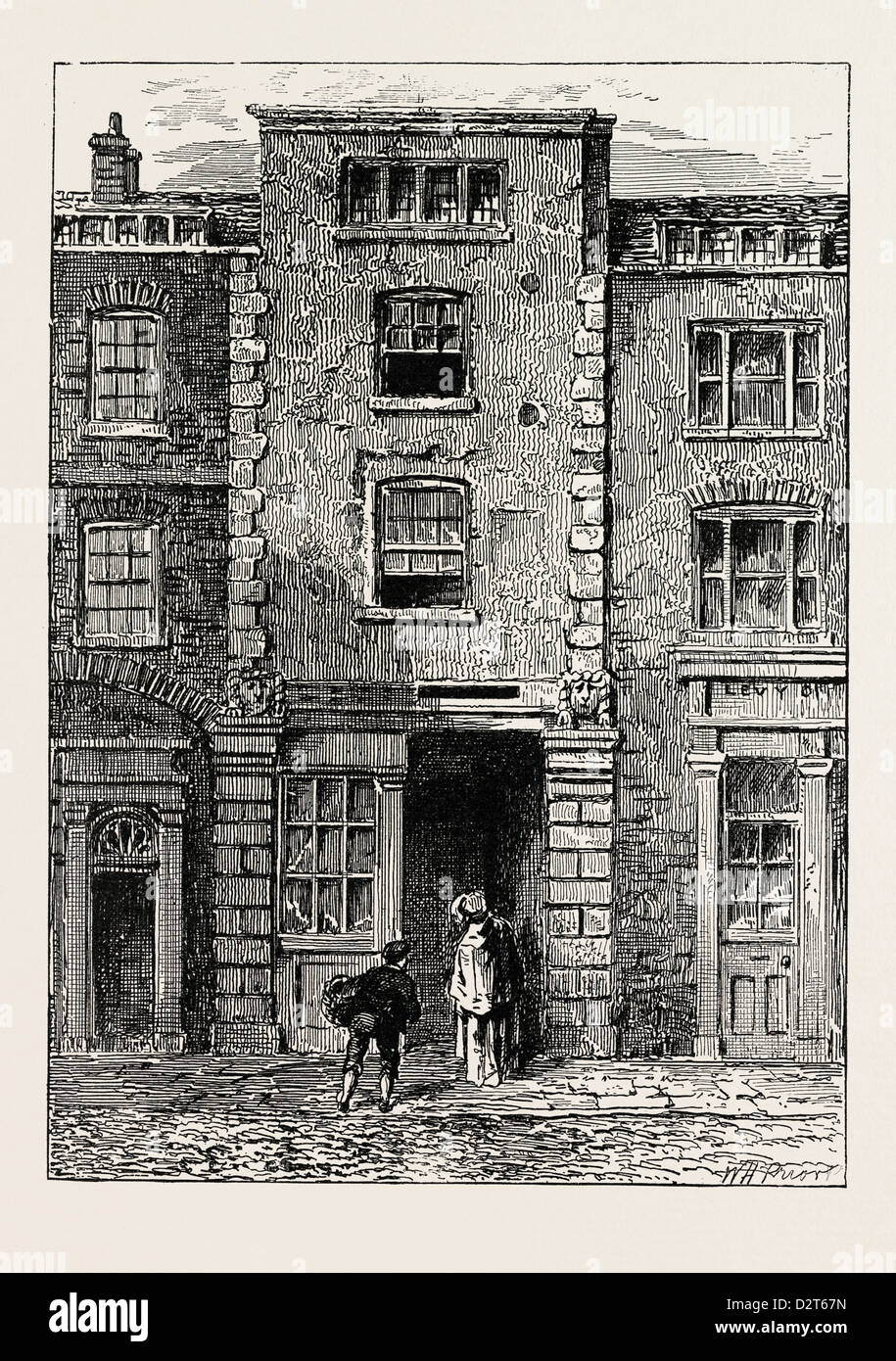 HOUSE SAID TO HAVE BEEN OCCUPIED BY DRYDEN IN FETTER LANE LONDON - Stock Image