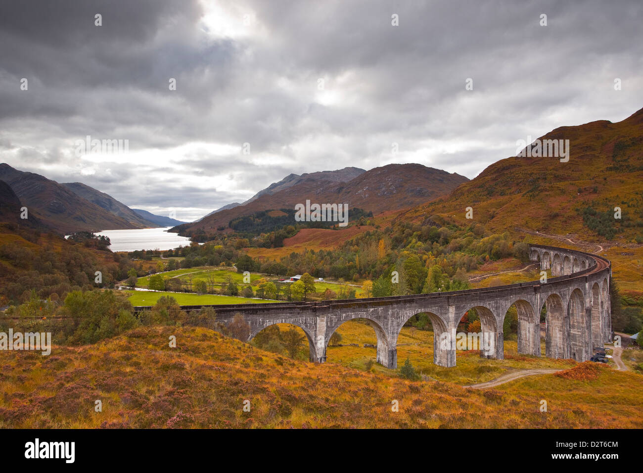 The magnificent Glenfinnan Viaduct in the Scottish Highlands, Argyll and Bute, Scotland, United Kingdom, Europe - Stock Image