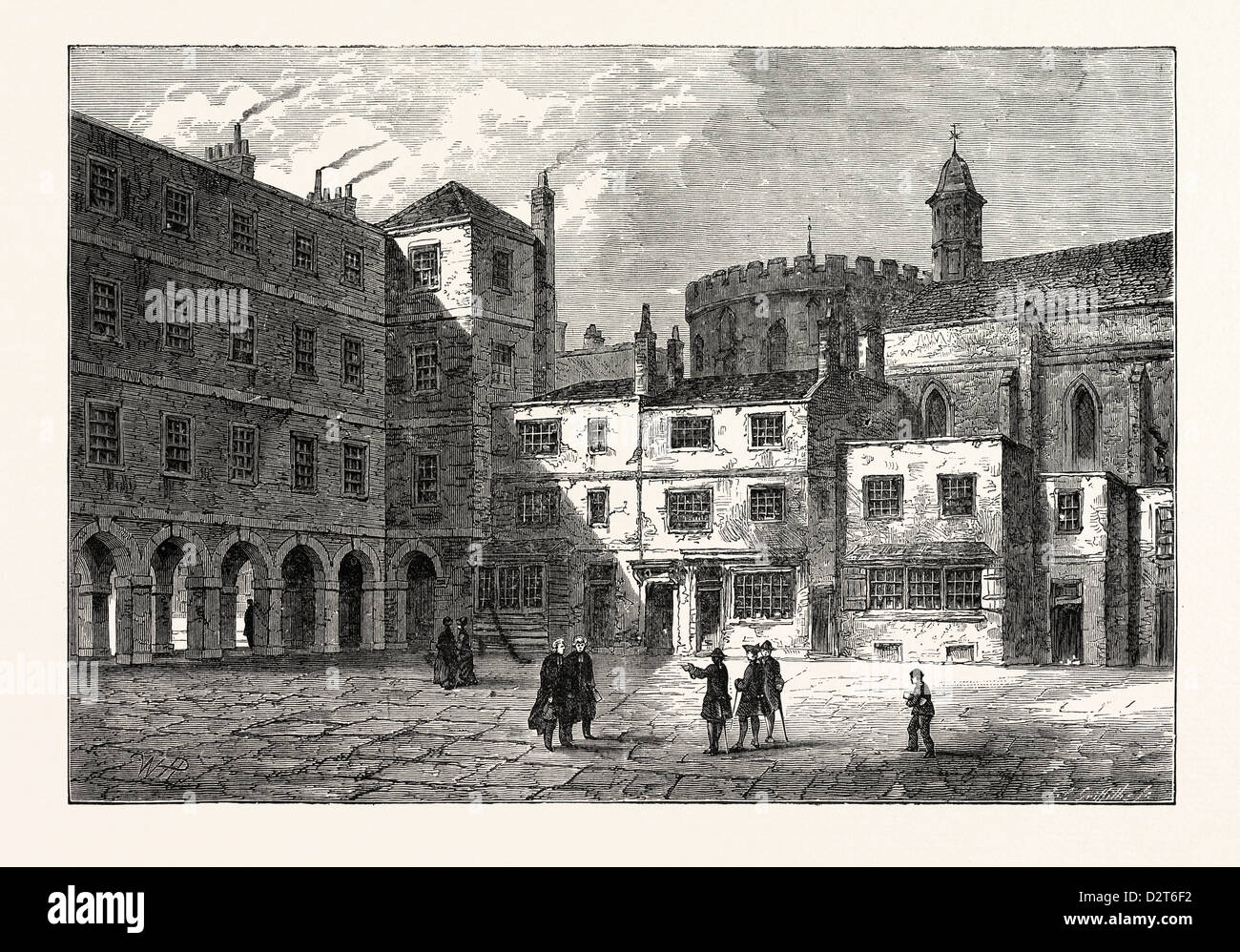 PART OF INNER TEMPLE 1800 LONDON - Stock Image