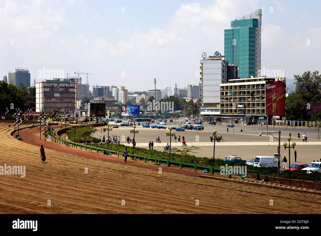 Meskal Square, Addis Ababa, Ethiopia, Africa - Stock Image