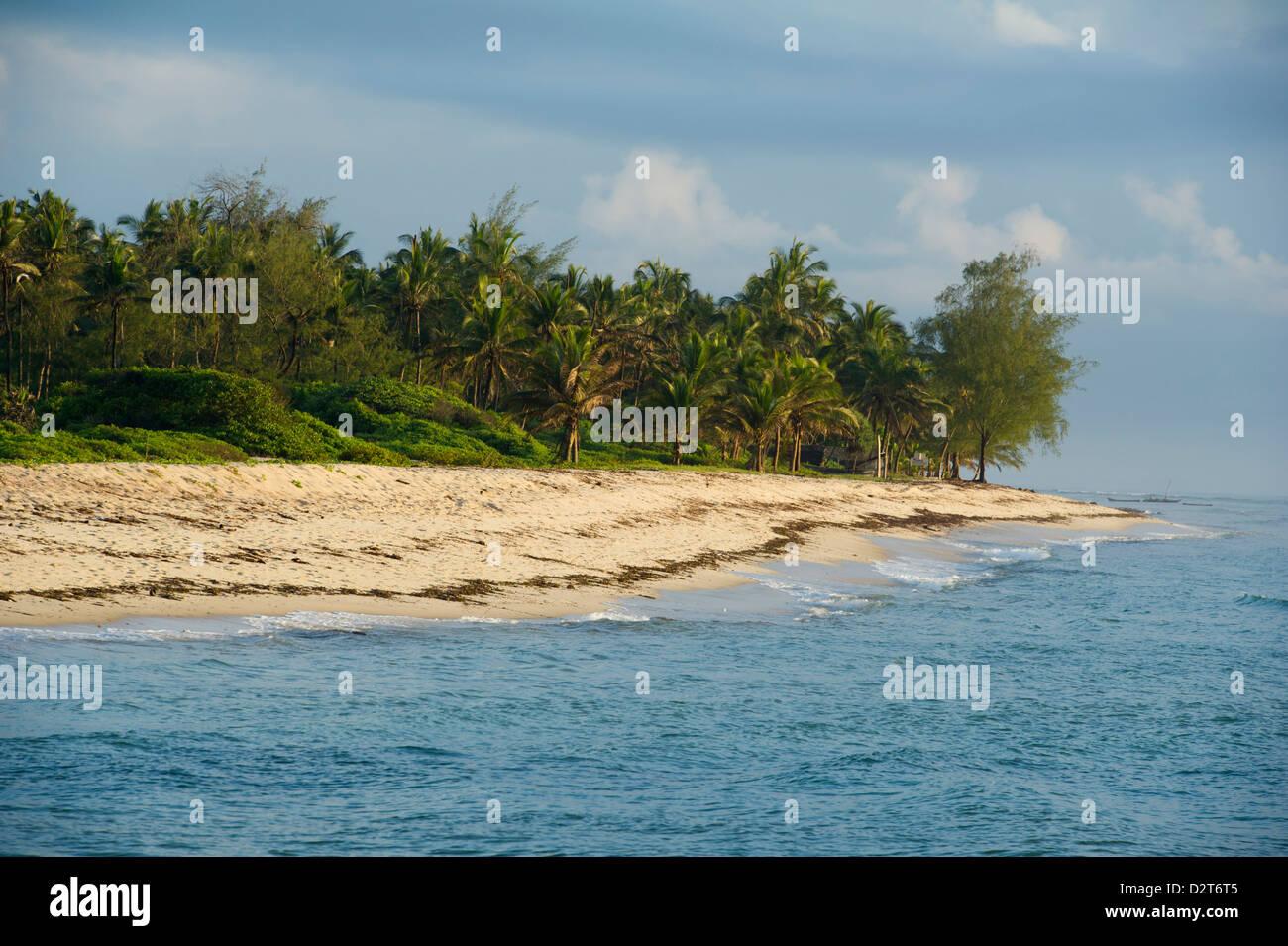 Mouth of the Mwachema River, Diani Beach, Kenya - Stock Image
