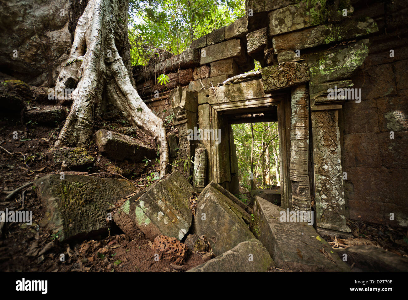 Gateway ruins, Angkor, UNESCO World Heritage Site, Siem Reap, Cambodia, Indochina, Southeast Asia, Asia - Stock Image