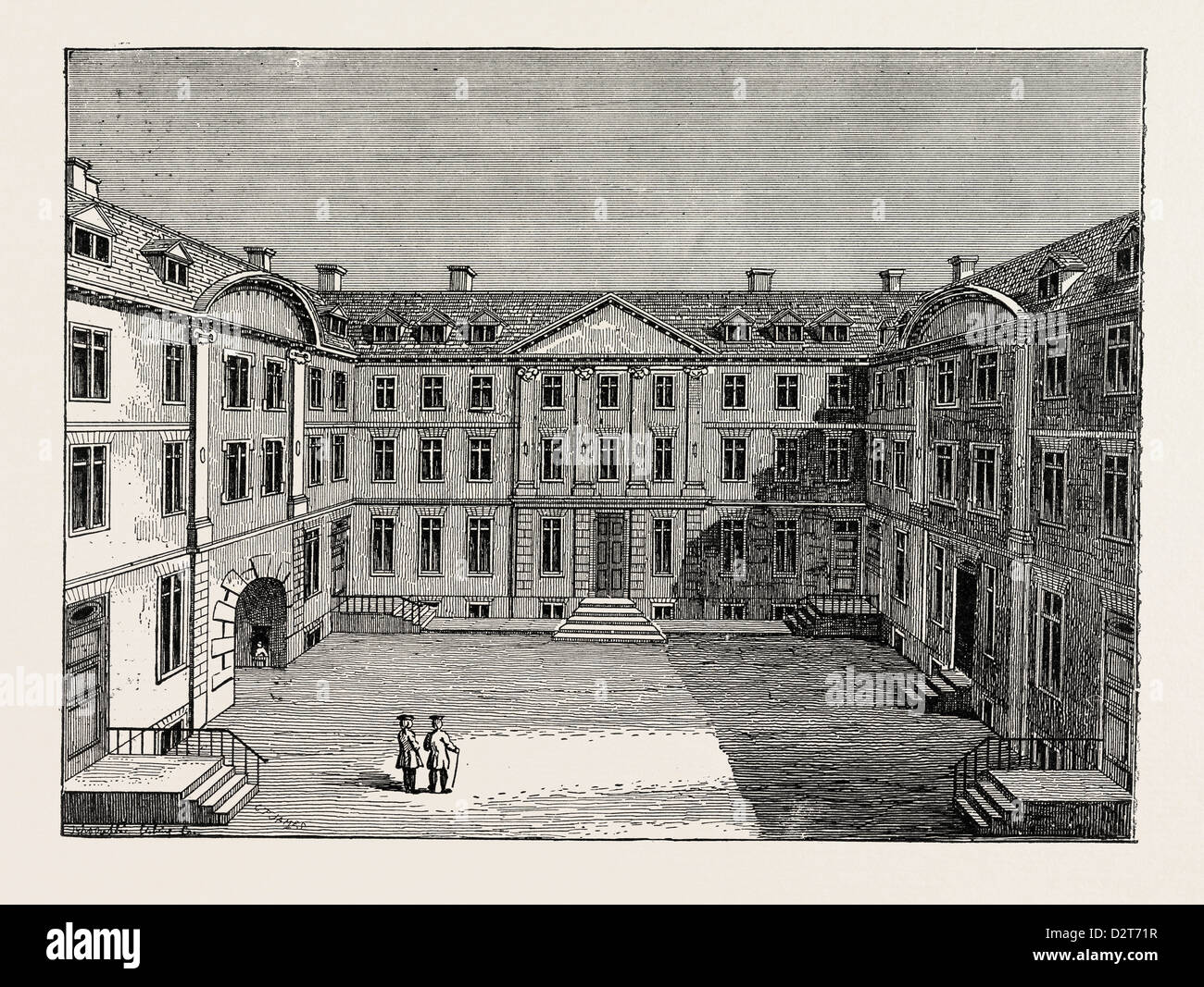 HERALDS' COLLEGE ABOUT 1700 LONDON - Stock Image