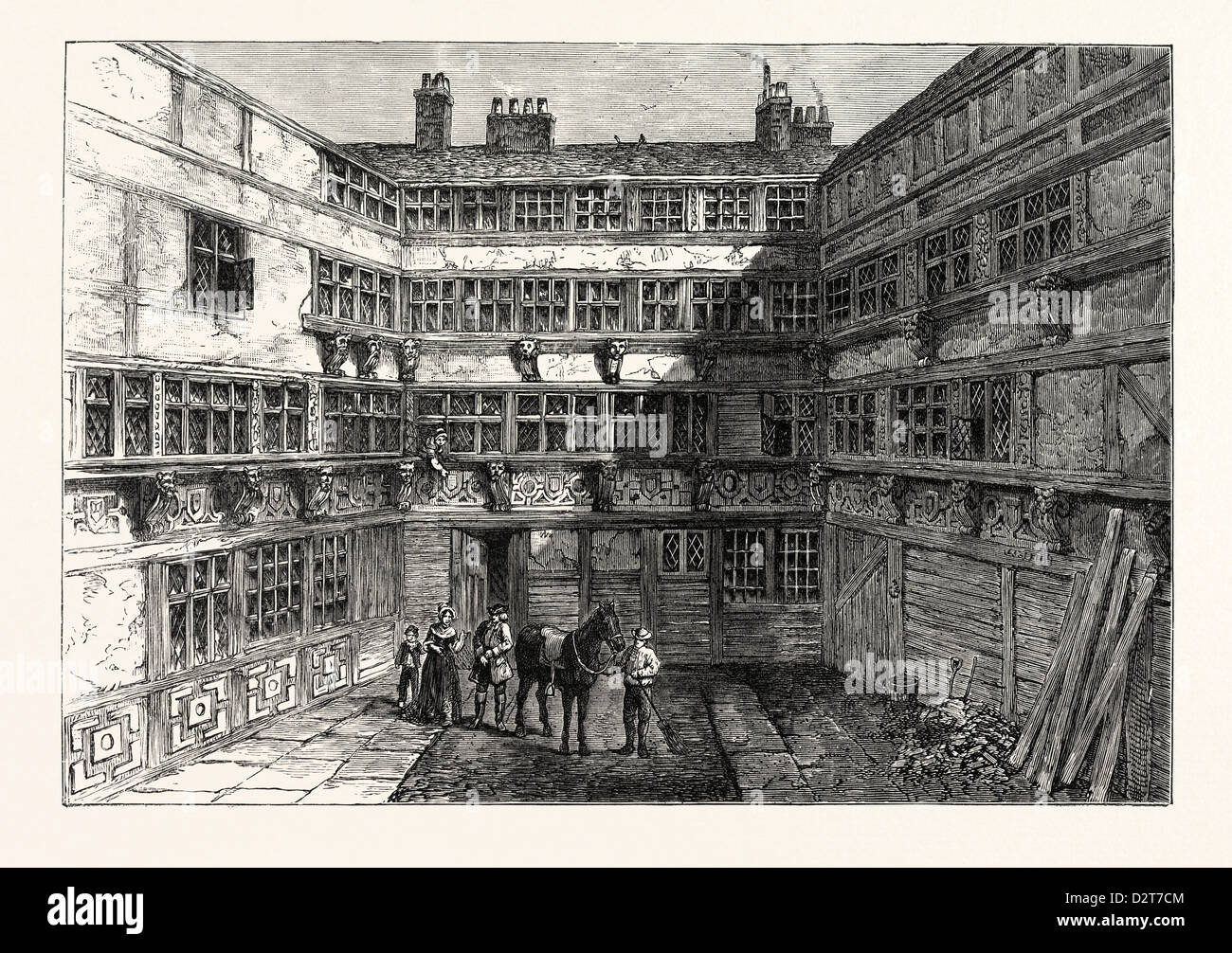 SIR R. WHITTINGTON'S HOUSE CRUTCHED FRIARS 1803 LONDON - Stock Image