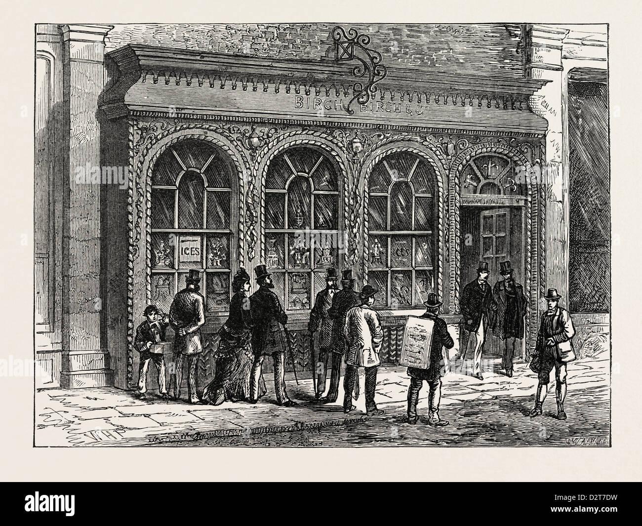 BIRCH'S SHOP CORNHILL LONDON - Stock Image