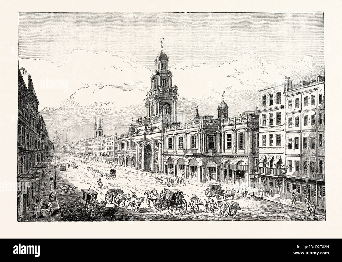 THE SECOND ROYAL EXCHANGE CORNHILL LONDON - Stock Image