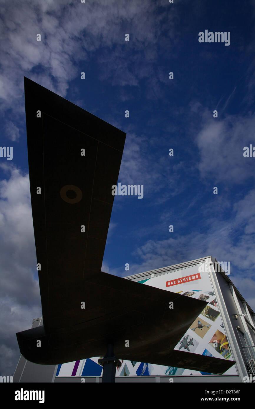 BAE Systems Pavilion at Farnborough Air Show 2012 - Stock Image