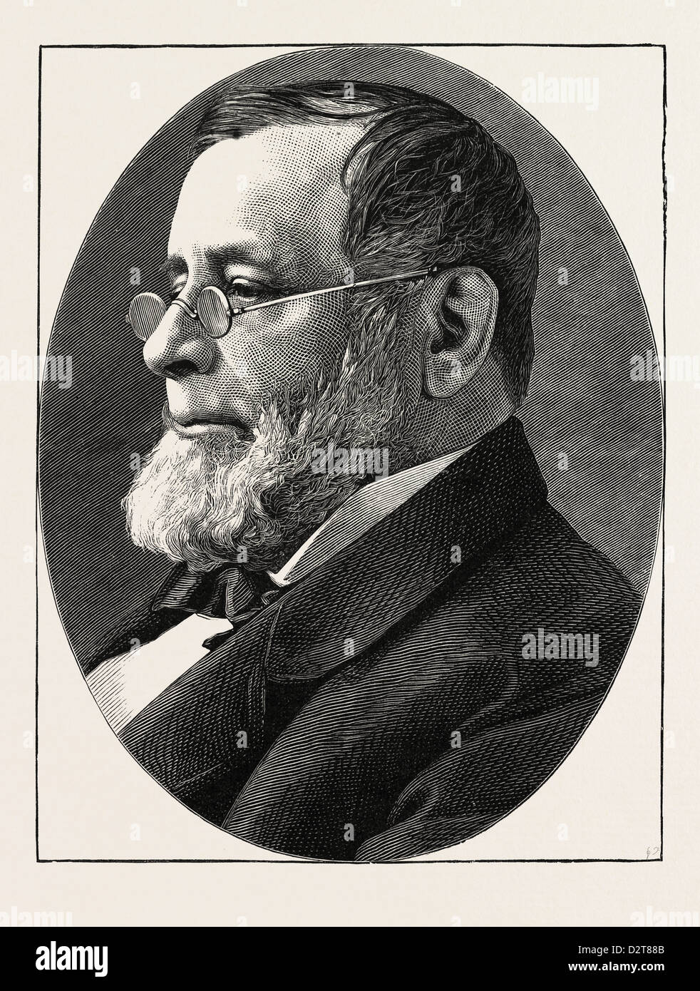 THE LATE REV. DR. EDWIN H. CHAPIN 1814 - 1880 PASTOR OF THE CHURCH OF THE DIVINE PATERNITY NEW YORK. U.S. - Stock Image