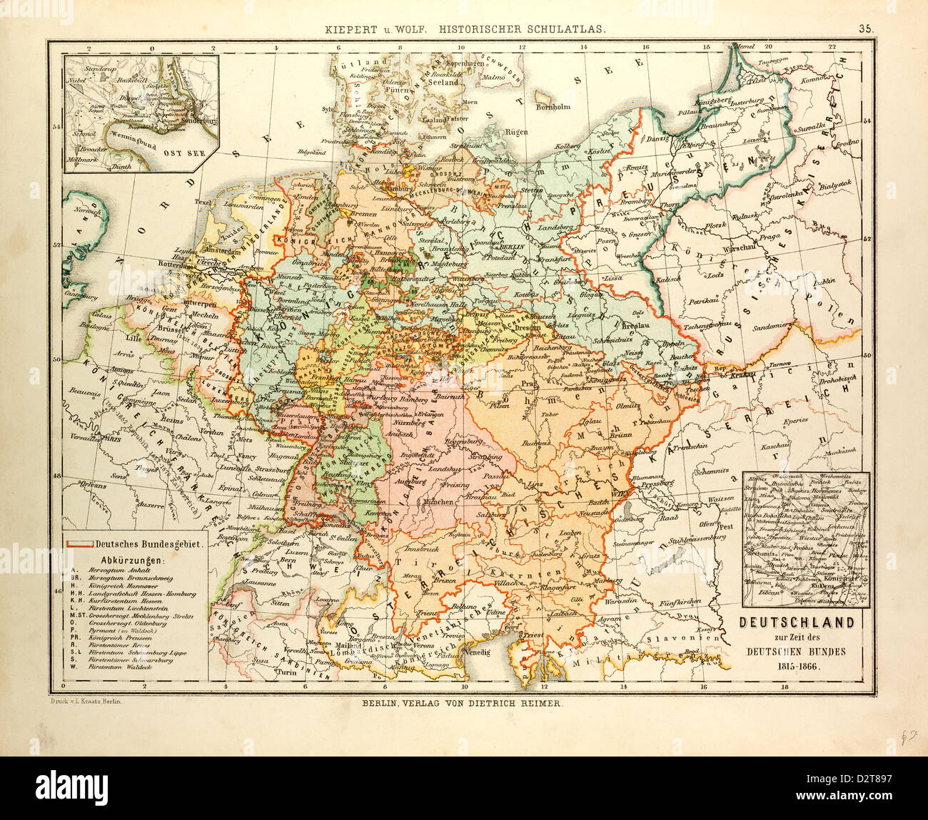 Map Of Germany 1815.Map Of Germany 1815 1866 Stock Photo 53393795 Alamy