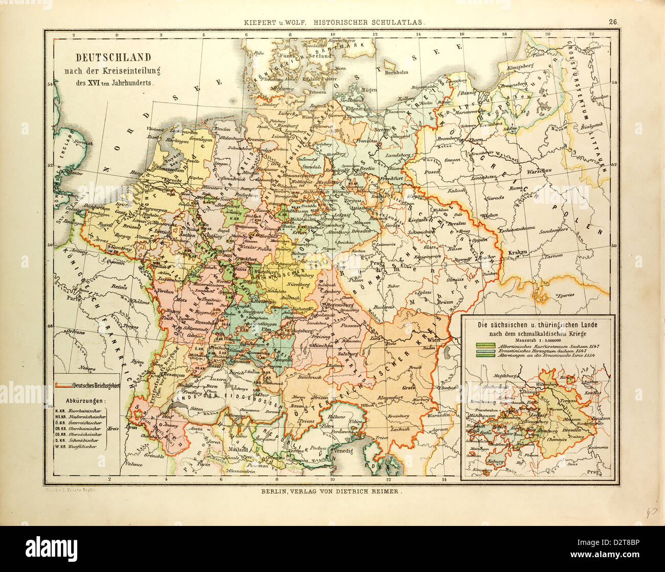 map of germany in the 16th century