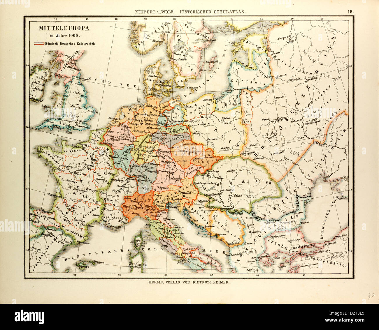 Map Of Central Europe In 1000 A D Stock Photo 53393933 Alamy