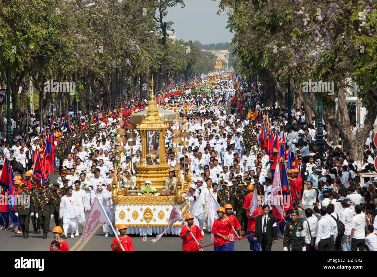 Phnom Penh, Cambodia. 1st February 2013. Funeral of King Norodom Sihanouk, who died in October. Credit:  Combre Stock Photo