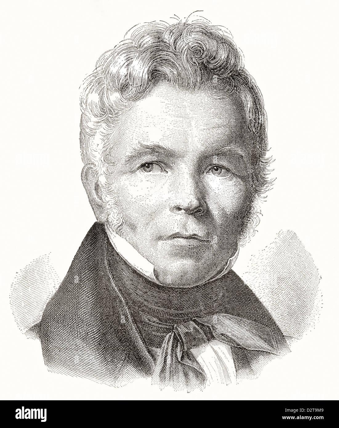 Karl Friedrich Schinkel, 1781 – 1841. Prussian architect, city planner and painter. - Stock Image