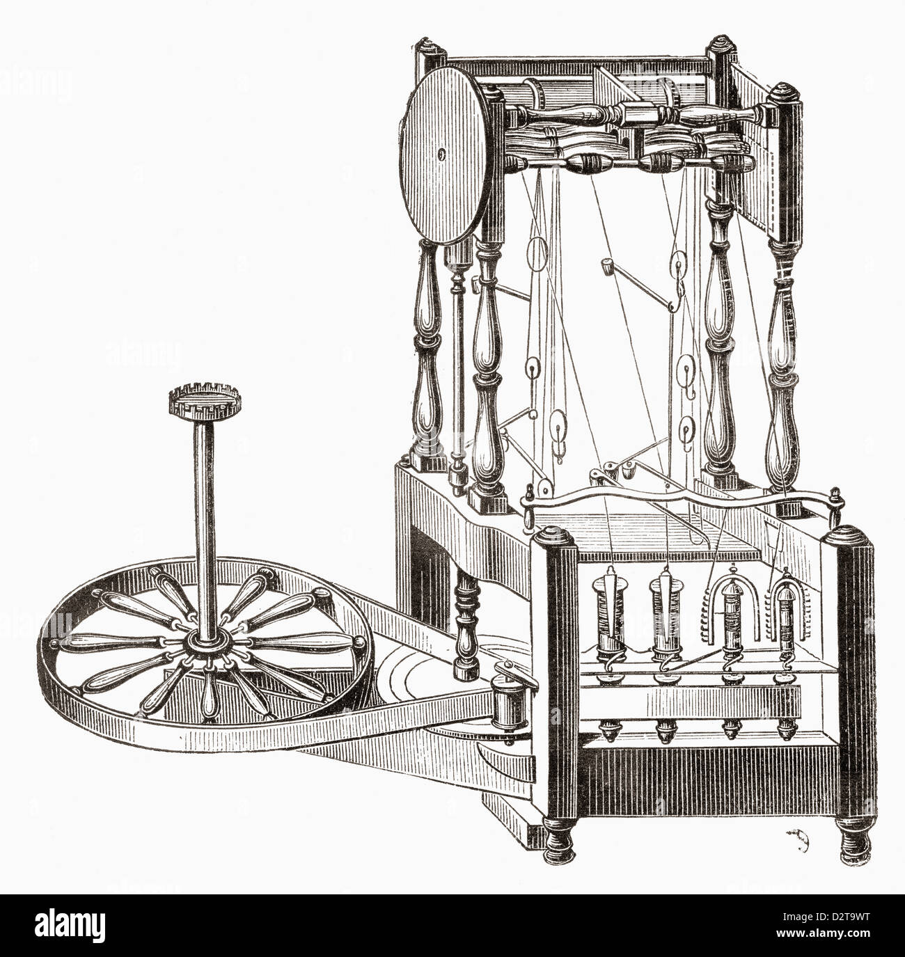 Richard Arkwright\'s Water Frame Stock Photo: 53395044 - Alamy