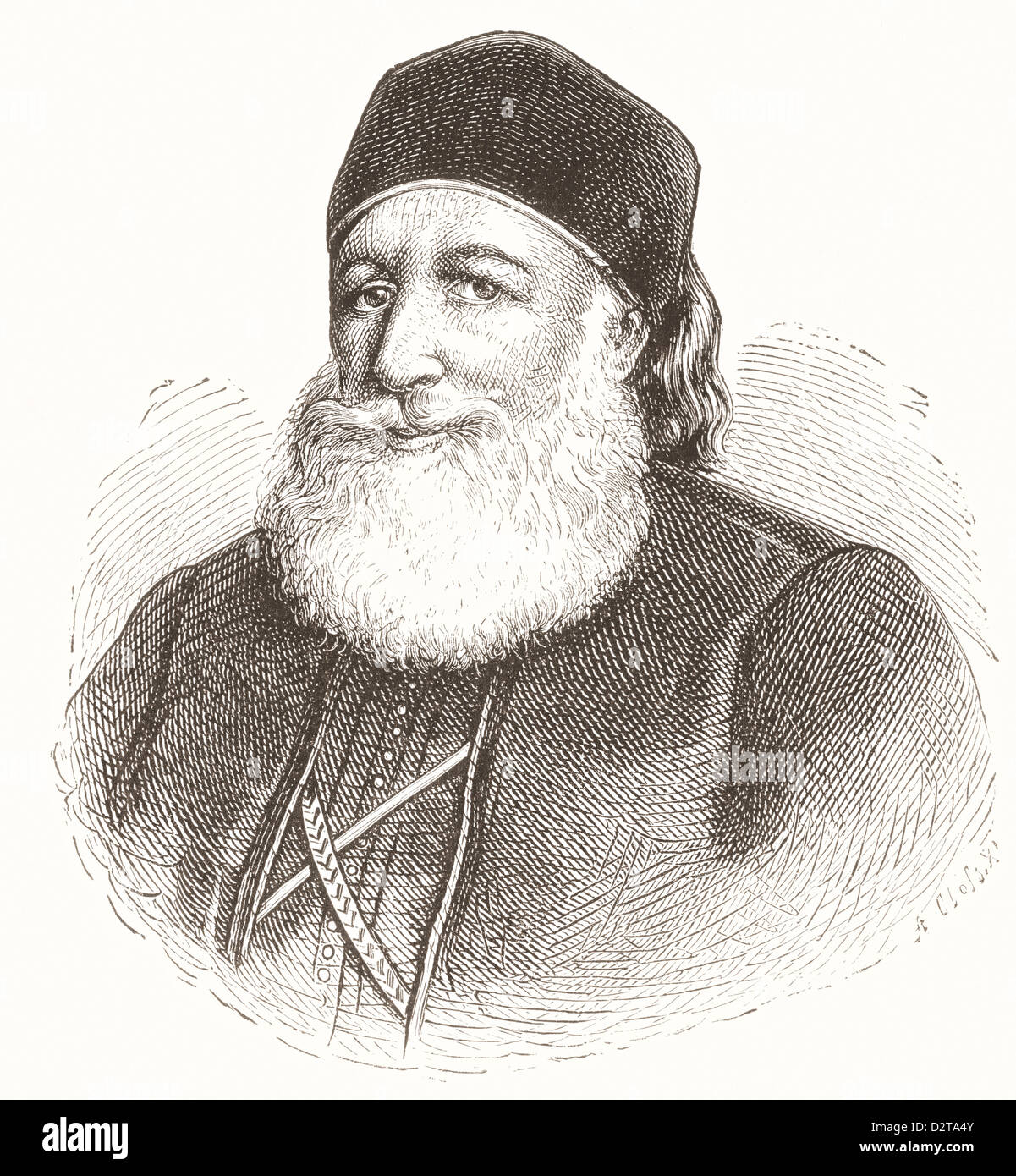Muhammad Ali Pasha al-Mas'ud ibn Agha, 1769 –1849. Albanian commander in Ottoman army, Wāli and self-declared - Stock Image