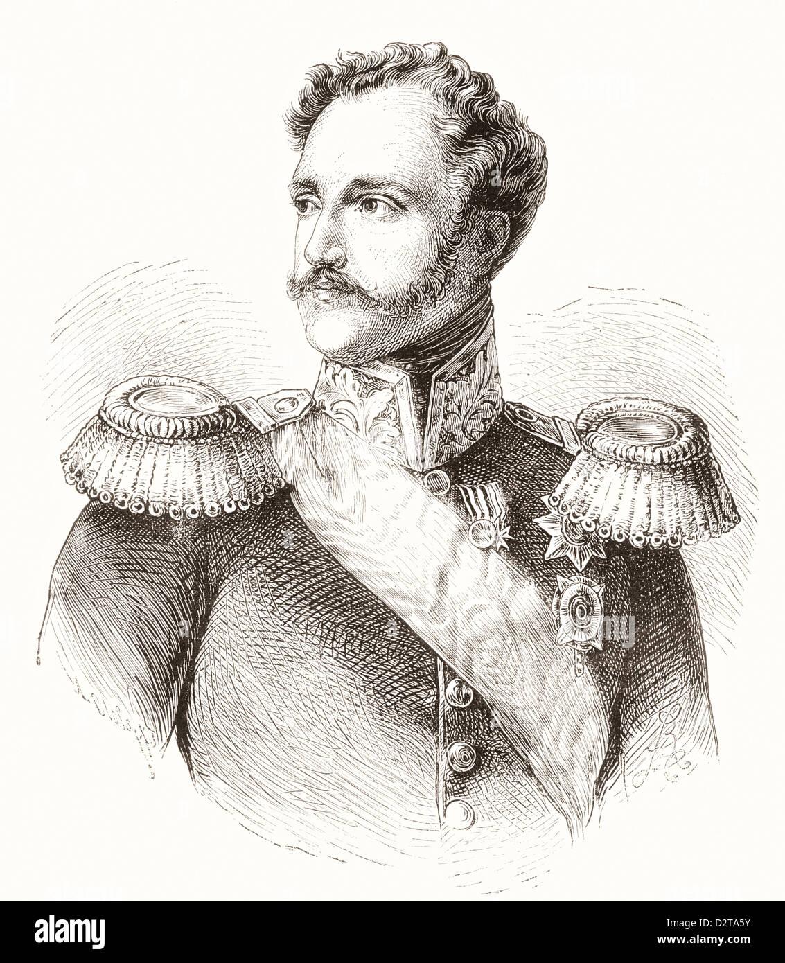 Nicholas I, 1796 – 1855. Emperor of Russia. - Stock Image