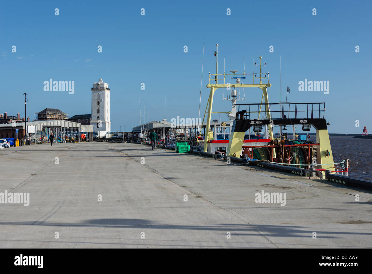 Fish Quay in North Shields - Stock Image