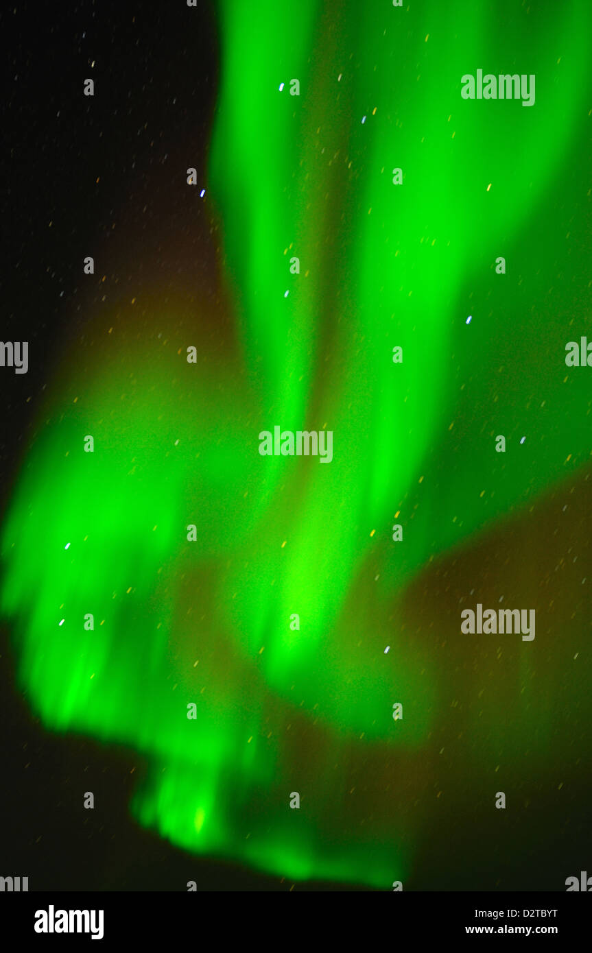 Northern Lights (Aurora borealis), Churchill, Hudson Bay, Manitoba, Canada, North America - Stock Image