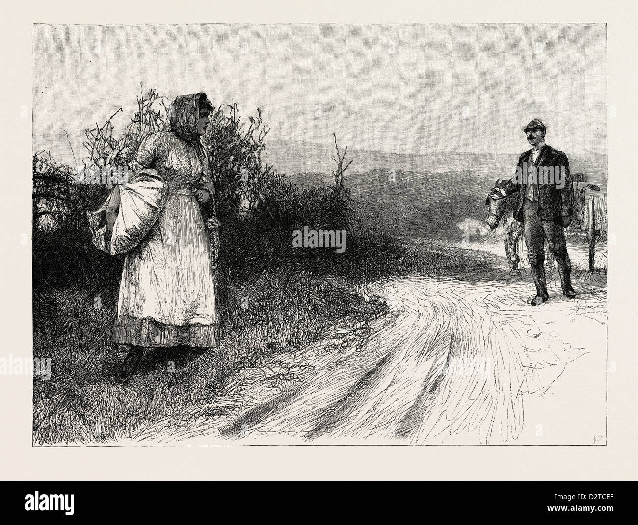 TESS OF THE D'URBERVILLES: 'Tess stood still, and turned to look behind her' - Stock Image