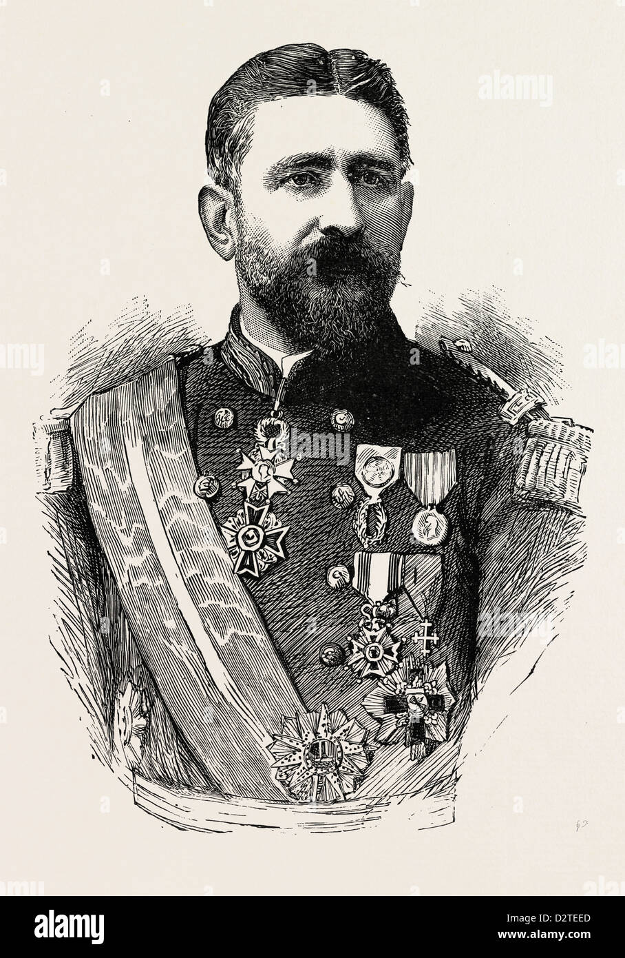 GENERAL BOULANGER, Born 1837, Died September 30, 1891 - Stock Image