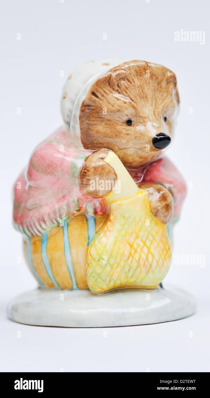 Mrs. Tiggy Winkle Buying Provision - Beatrix Potter Royal Doulton figurine - Stock Image