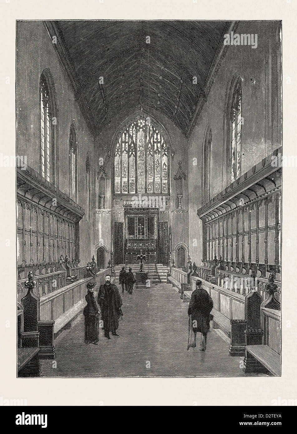 THE NEW CHAPEL QUEEN'S COLLEGE CAMBRIDGE: The entire cost of which has been defrayed by the subscriptions of - Stock Image