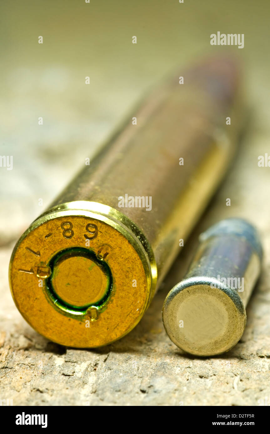 ammunition 8x57IS and cal.22 Stock Photo