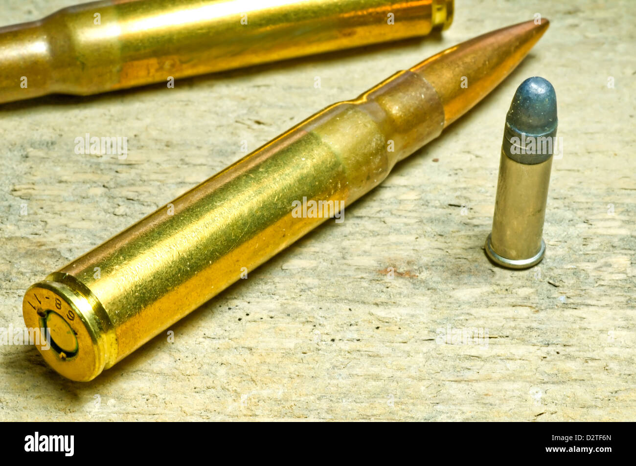 ammunition 8x57IS and cal.22 - Stock Image