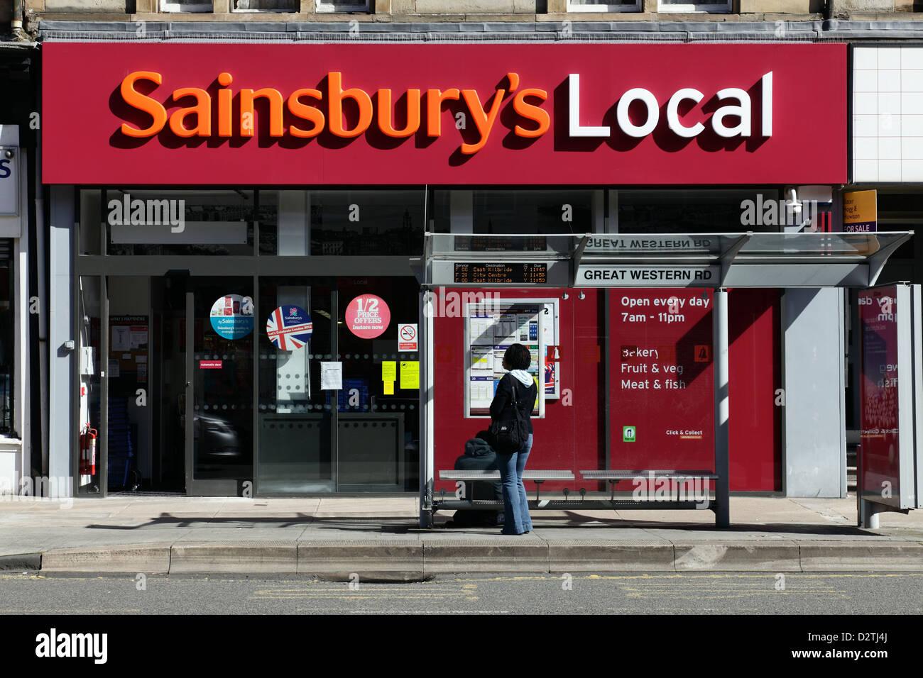 A Sainsbury's Local store, UK - Stock Image