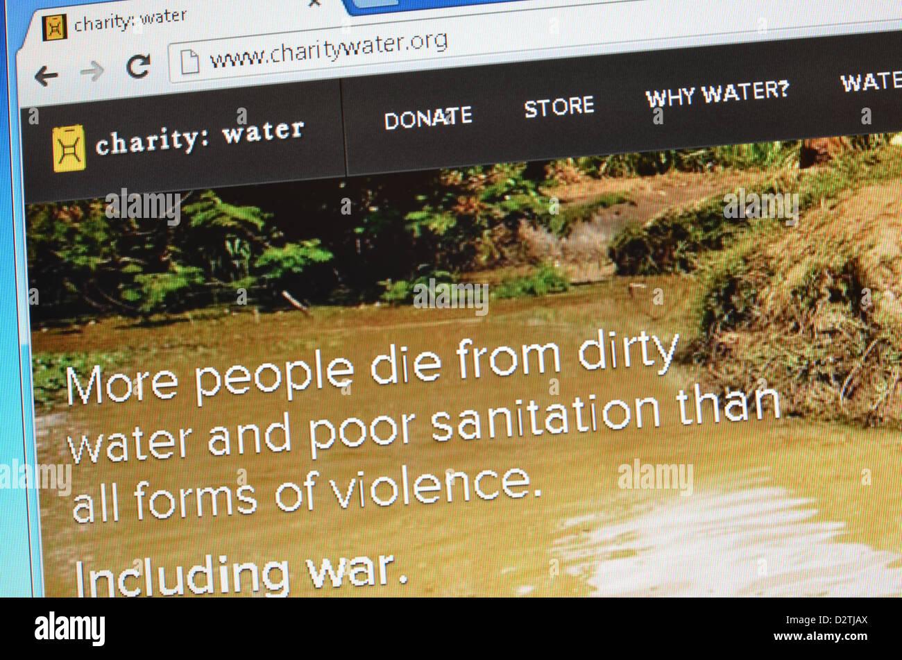 Charity Water website screenshot - Stock Image