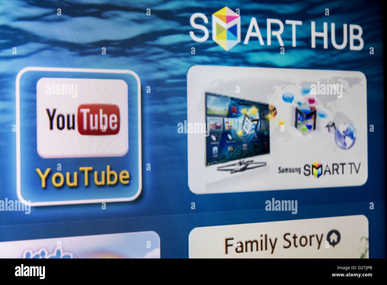 3f172e7da5b YouTube app icon on a Tv screen. YouTube is the World s most acknowledged  video sharing site