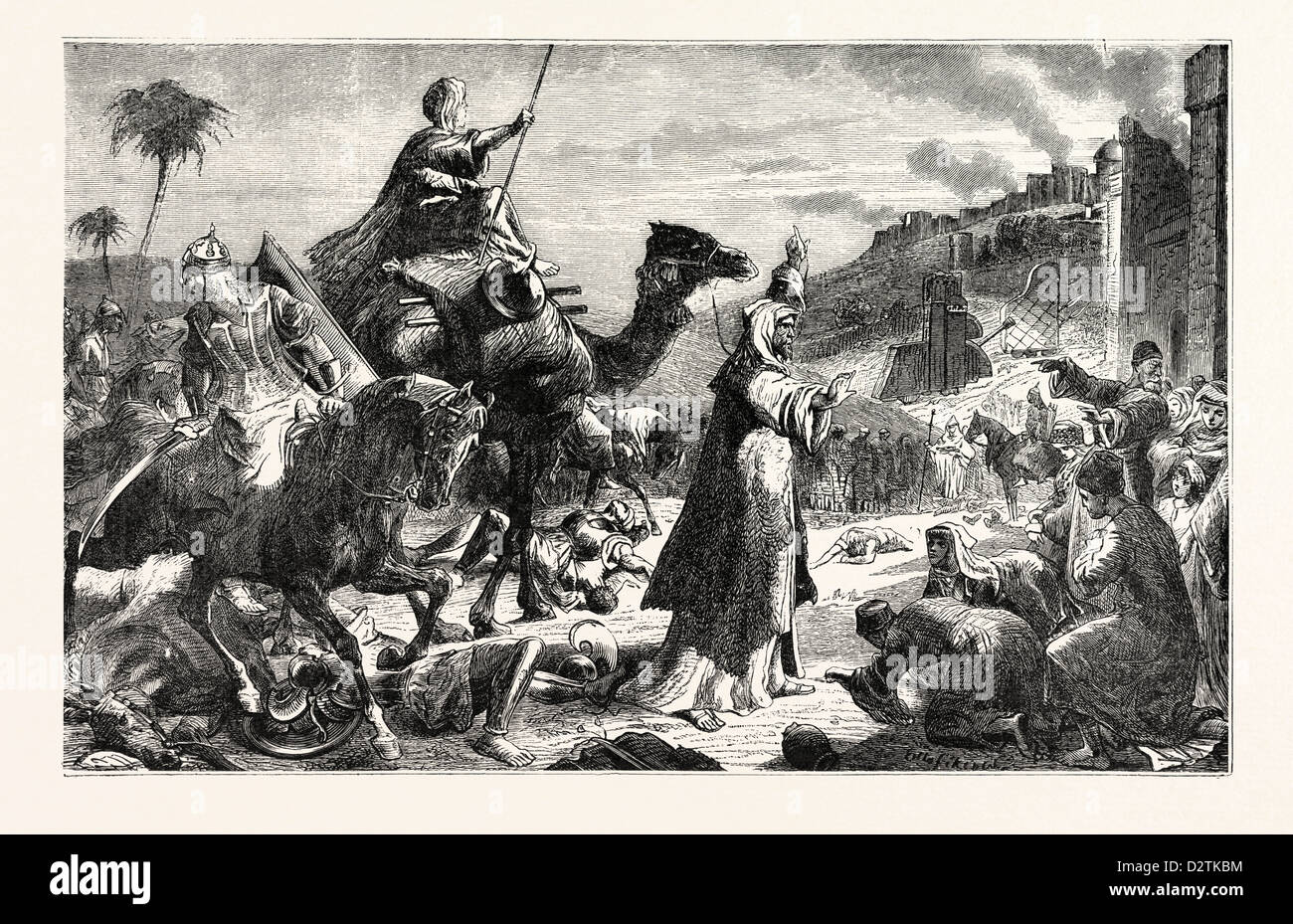 ENTRY OF OMAR INTO JERUSALEM - Stock Image