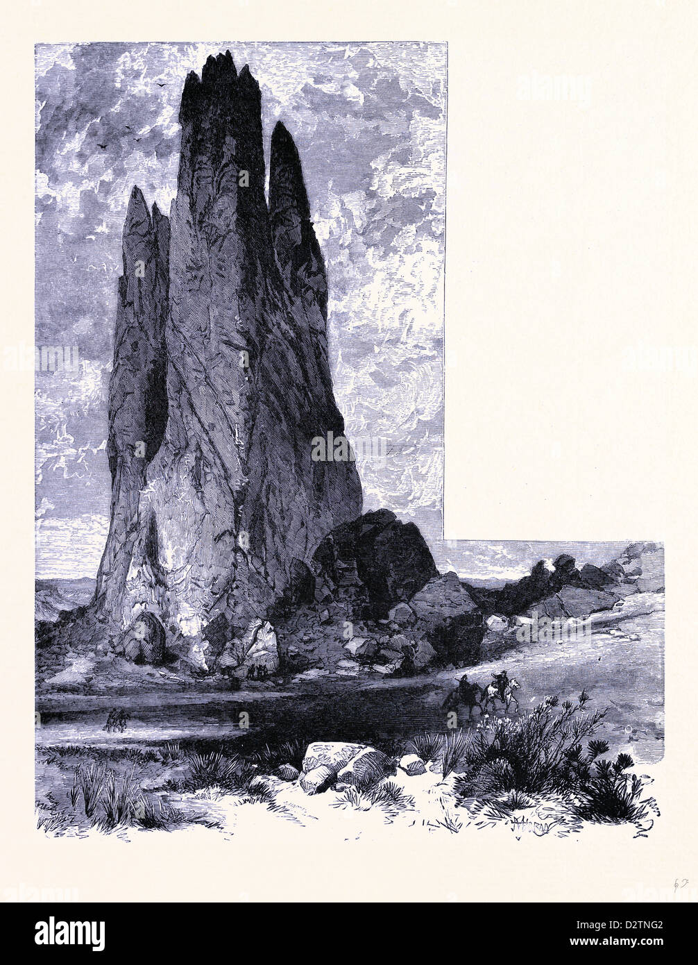 Tower Rock Garden of the Gods United States of America Stock Photo