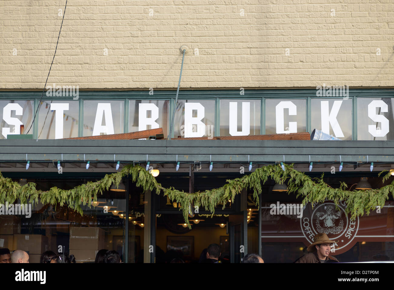 First ever Starbucks, Seattle, USA - Stock Image